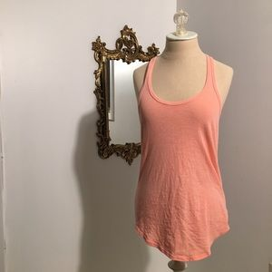 Racer back tank salmon neon pink size small